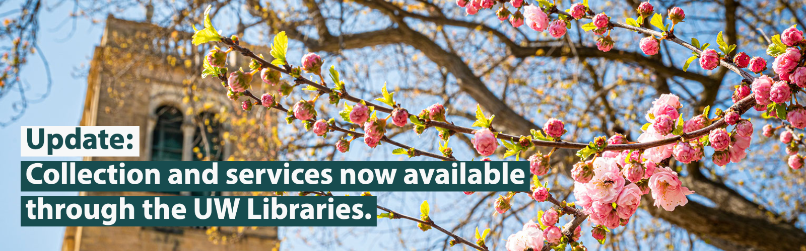 Update: Collections and services now available through the UW Libraries.